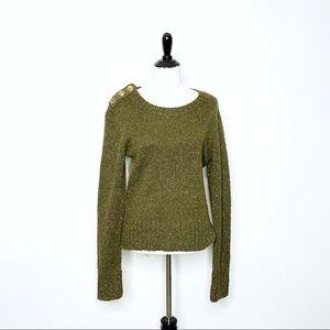 Anthropologie Charlie & Robin Berm Button Sweater